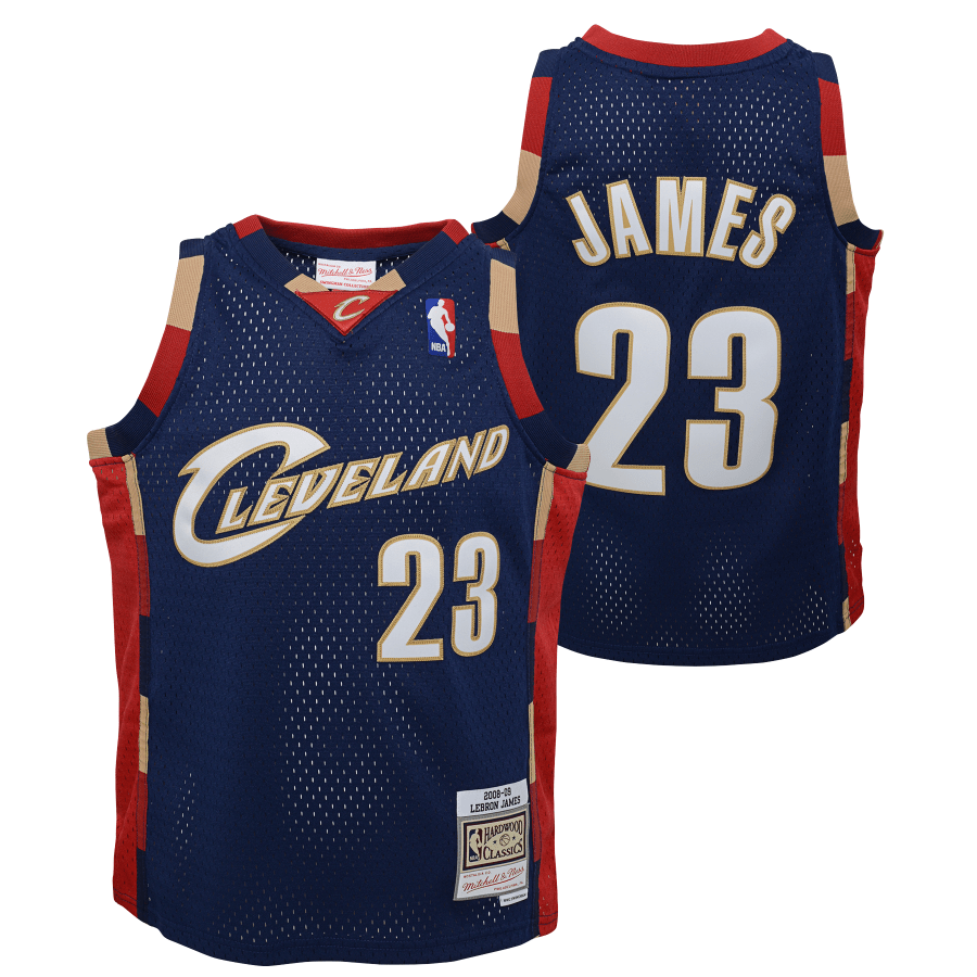 Youth LeBron James Cleveland Cavaliers Mitchell & Ness Navy NBA Throwback Jersey