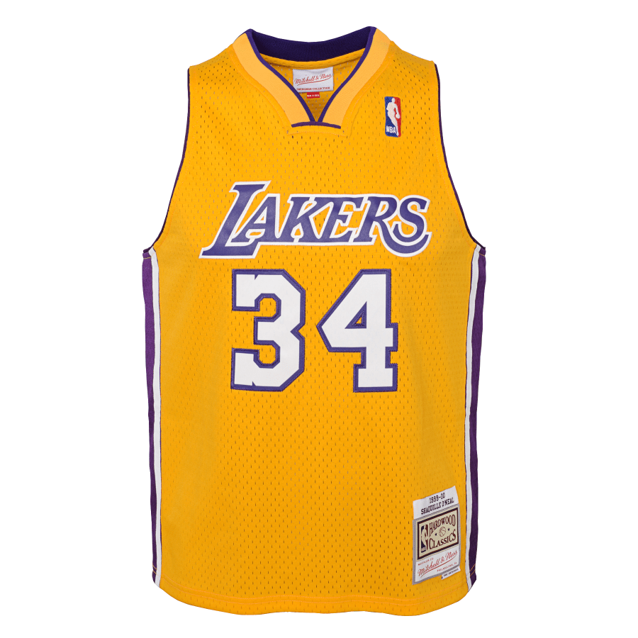 Mitchell & Ness Youth Jersey Youth Shaquille O'Neal Los Angeles Lakers Mitchell & Ness Gold NBA Throwback Jersey