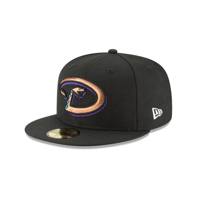 New Era Hats Arizona Diamondbacks New Era 1999 Black Cooperstown Collection 59FIFTY Fitted Hat