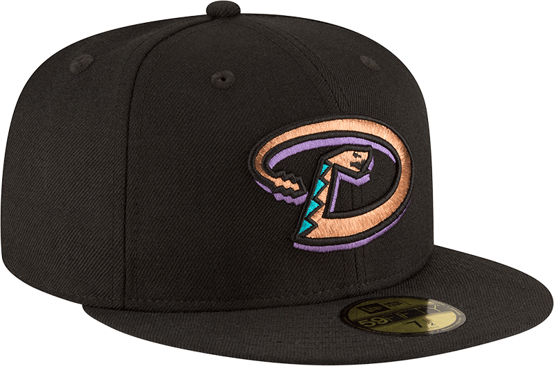 New Era Hats Arizona Diamondbacks New Era 2001 World Series Wool 59FIFTY Fitted Hat Black
