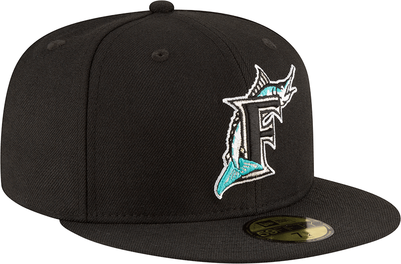 New Era Hats Florida Marlins New Era 1997 World Series Wool 59FIFTY Fitted Hat Black