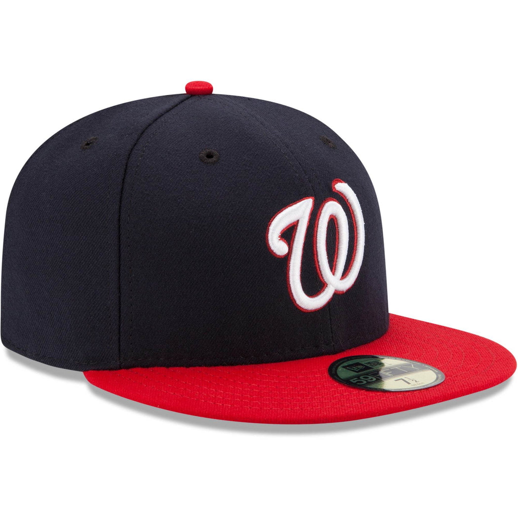 New Era Hats Men's Washington Nationals New Era Navy/Red Alternate Authentic Collection On-Field 59FIFTY Fitted Hat