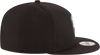 New Era Hats One Size / Black Brooklyn Nets New Era Black & White Logo 9FIFTY Adjustable Snapback Hat - Black