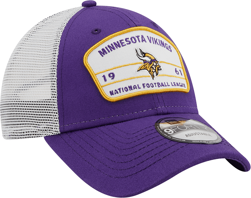 New Era Hats One Size / Purple Minnesota Vikings New Era Purple/White Loyalty Trucker 9FORTY Snapback Hat