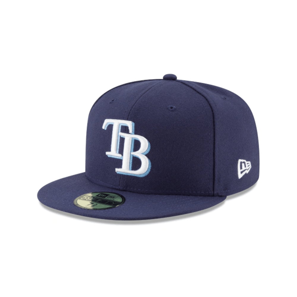 New Era Hats Tampa Bay Rays New Era Navy Game Authentic Collection On-Field 59FIFTY Fitted Hat
