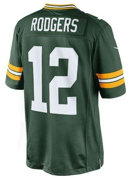 Aaron Rodgers Green Bay Packers NFL Nike Green Limited Stitched Jersey