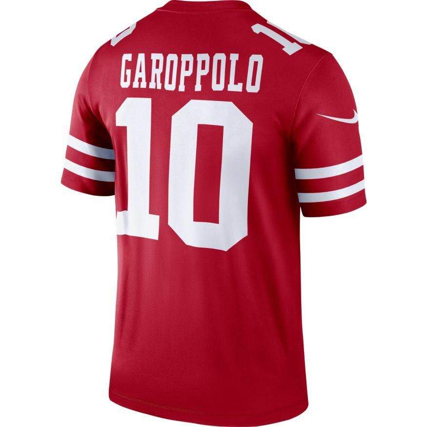 Nike Adult Jersey Men's Jimmy Garoppolo San Francisco 49ers Nike Red Legend Jersey