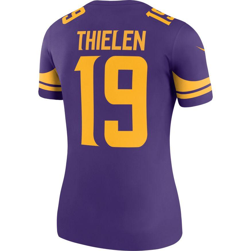 Nike Adult Jersey Women's Adam Thielen Minnesota Vikings Nike Purple Color Rush Fan Legend Jersey