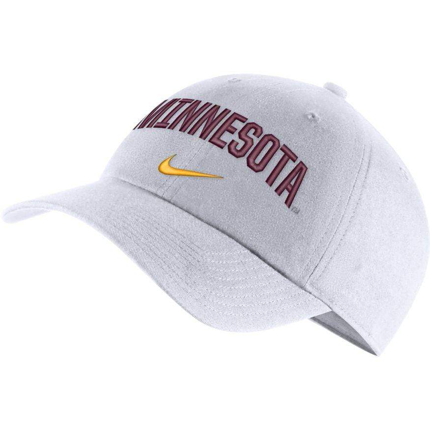 Nike Hats OSFM / White Minnesota Gophers Nike College Heritage86 White Adjustable Hat