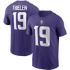 Nike Shirts Adam Thielen Minnesota Vikings Nike Purple Name & Number T-Shirt