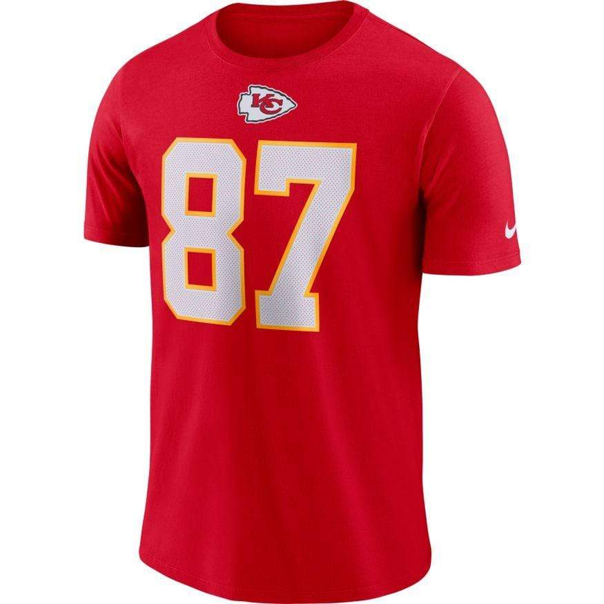 Nike Shirts Travis Kelce Kansas City Chiefs Nike Men's Red Player Legend Name and Number T-Shirt