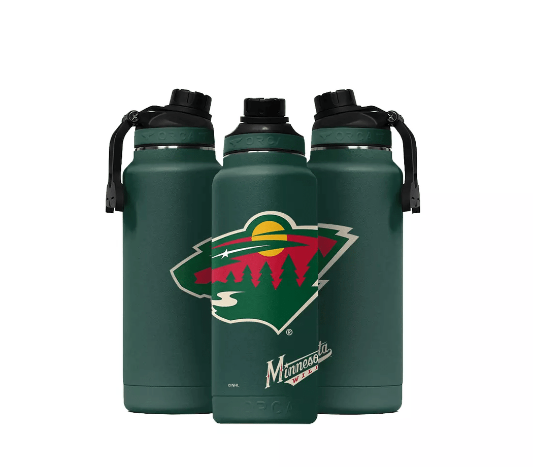 ORCA Novelty Minnesota Wild ORCA Large 34oz. Hydra Color Logo Water Bottle