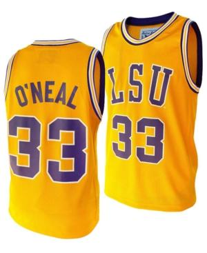 Original Retro Brand Adult Jersey Shaquille O'Neal LSU Tigers Original Retro Brand Replica Basketball Jersey - Gold
