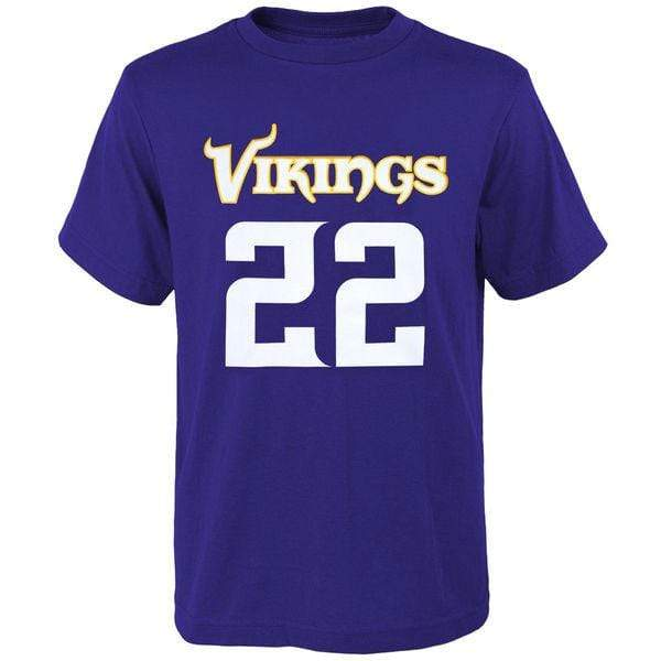 Outerstuff Shirts Youth Harrison Smith Minnesota Vikings Outerstuff Purple HD Name and Number T-Shirt