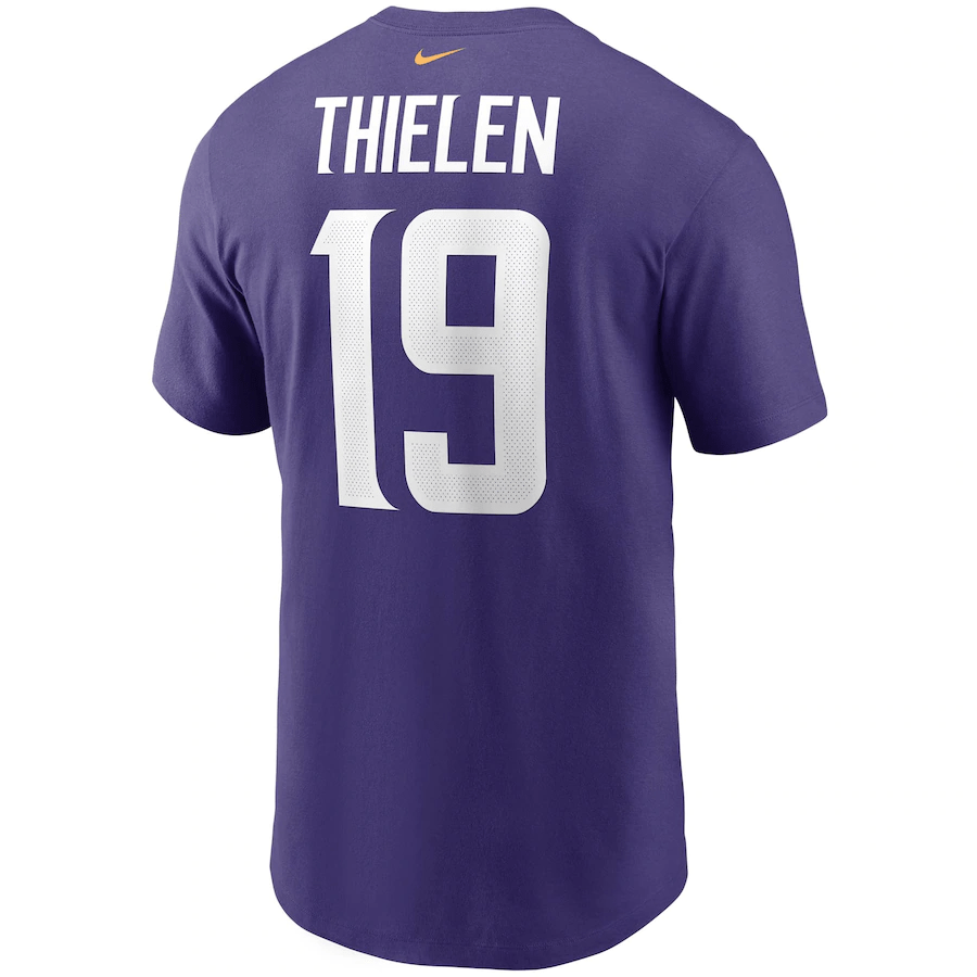 Pro Image Sports at the Mall of America Adam Thielen Minnesota Vikings Nike Purple Name & Number T-Shirt