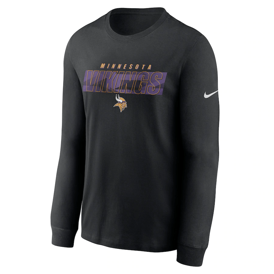 Pro Image Sports at the Mall of America Minnesota Vikings Nike Black Fan Gear Playbook Long Sleeve T-Shirt