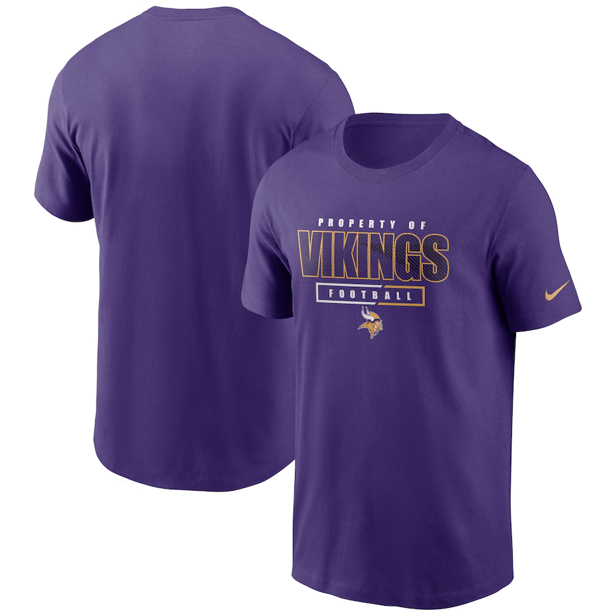 Pro Image Sports at the Mall of America Minnesota Vikings Nike Purple Team Property Of Essential T-Shirt
