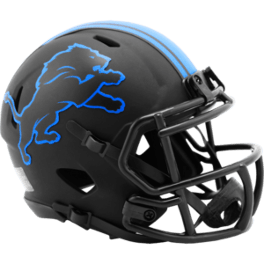 Riddell Mini Helmet One Size / Black Detroit Lions Riddell Eclipse Speed Mini Helmet