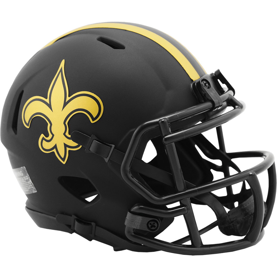 Riddell Mini Helmet One Size / Black New Orleans Saints Riddell Eclipse Speed Mini Helmet