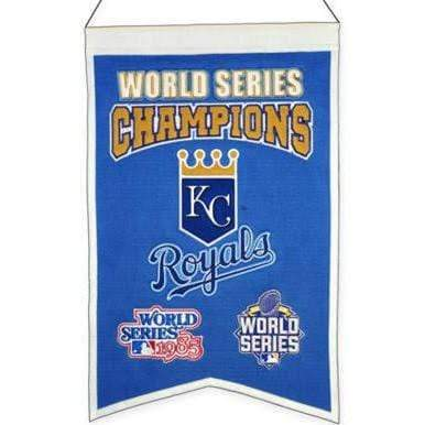 Winning Streak Sports Banners Blue Kansas City Royals Embroidered Wool 2-Time World Series Champions Traditions Banner