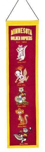 Winning Streak Sports Banners ONE SIZE Minnesota Golden Gophers  8x32 Wool Heritage Banner