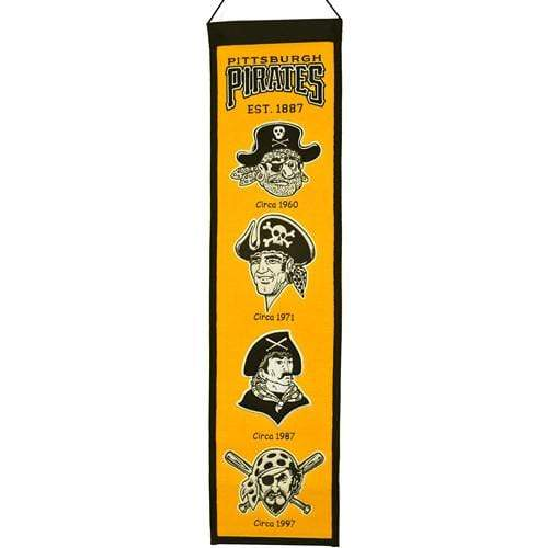 Winning Streak Sports Banners ONE SIZE Pittsburgh Pirates  8x32 Wool Heritage Banner