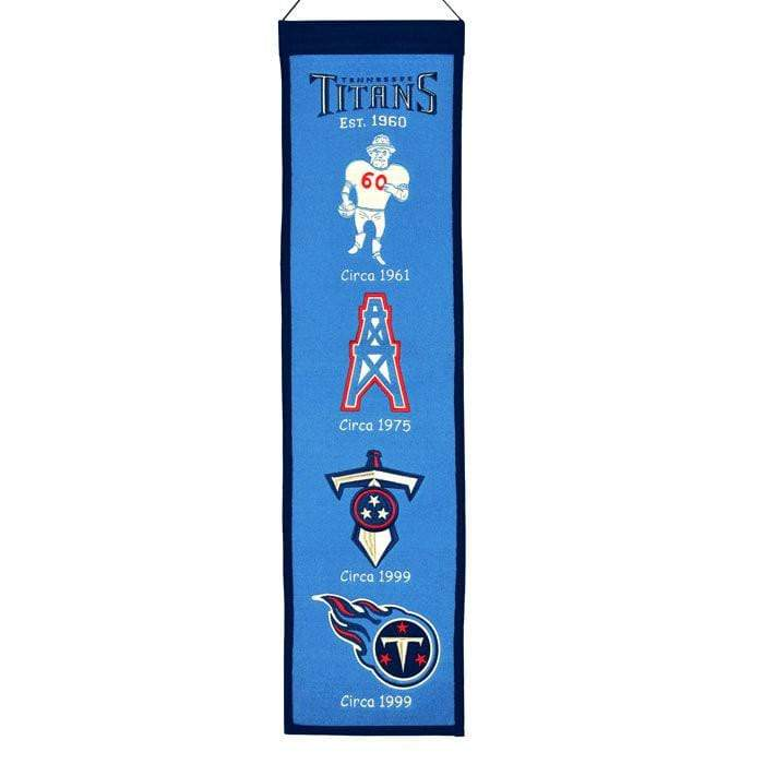 Winning Streak Sports Banners ONE SIZE Tennessee Titans  8x32 Wool Heritage Banner