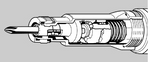 CP780 - Chicago Pneumatic - Atornillador neumático ratchet - Hex 1/4