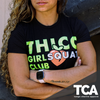 """THICC Girl Squat Club"" - Women's Extended Crop Tee"
