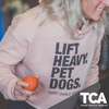 """Lift Heavy Pet Dogs"" - Women's Crop Hoodie"