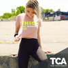 """THICC Girl Running Club"" - Peach Women's Crop Tee"