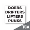 """Doers Drifters Lifters and Punks"" - Sticker"