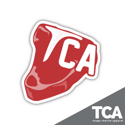 """T(bone)CA Steak"" - Sticker"