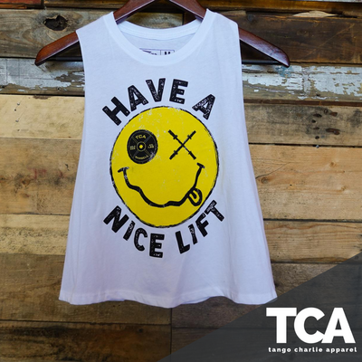 """Thank You, have a Nice Lift"" - Women's Crop Tank Top"