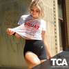 """Thank you, Thank you, I Squat""- Women's Extended Crop Tee"