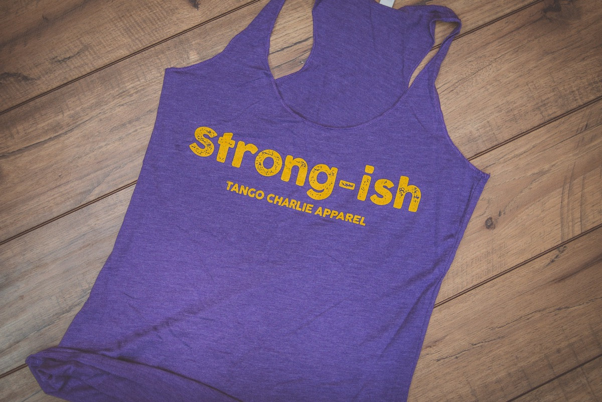 """Strong-ish"" - Girls Racerback Tank"