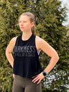 """Extended Crop Darkness is a HELL of a Coach"" - Women's Tank"