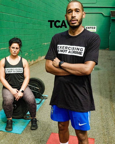 """Exercising is NOT a Crime"" - Men's Tee"