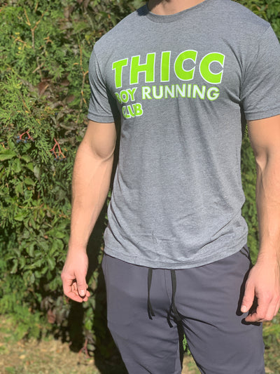 """THICC Boy Gray-V Edition Running Club"" - Men's Tee"