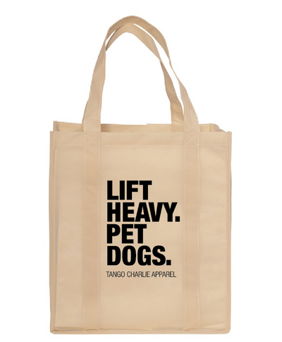 """Lift Heavy Pet Dogs Reusable Shopping Bag"" - Tote"