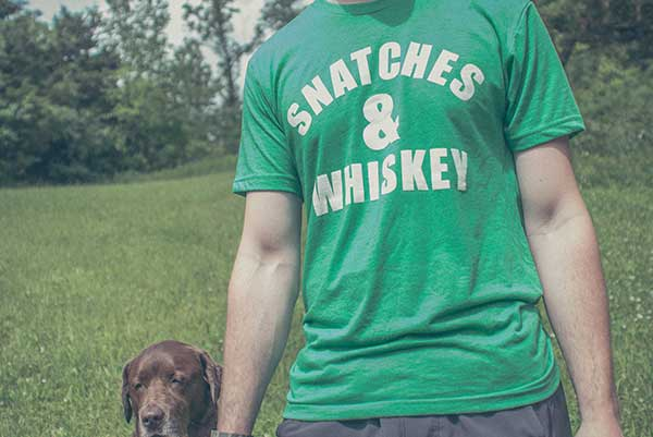 """Snatches & Whiskey"" - Guys Tee"