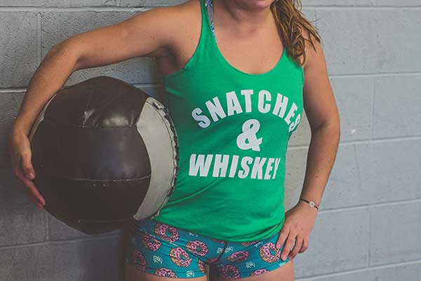 """Snatches & Whiskey"" - Womens Racerback Tank"