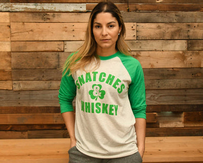 """Limited Edition Snatches & Whiskey"" - Unisex 3/4 Sleeve"