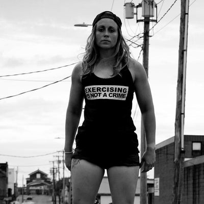 """Exercising is NOT a Crime"" - Women's Racerback Tank"