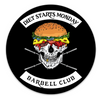 """Diet Starts Monday Barbell Club"" - Sticker"
