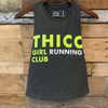 """THICC Girl Running Club"" - Dark Grey Women's Crop Tank"