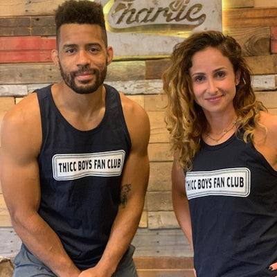 """Men's Cut - THICC Boys Fan Club"" - Champion Tank Top"