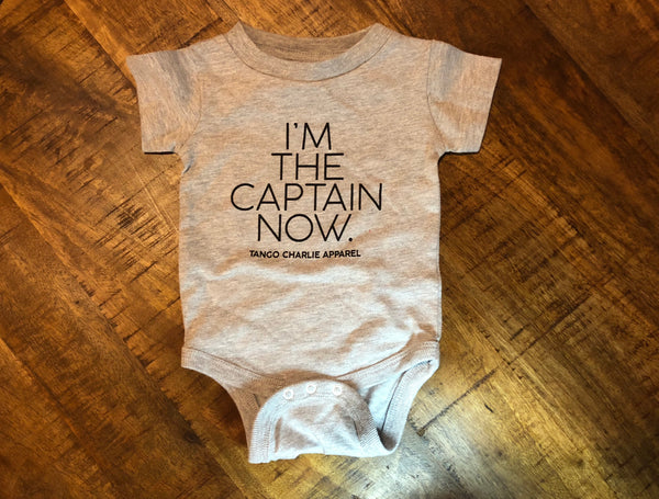 """I'm the Captain now""- Baby Onesie"