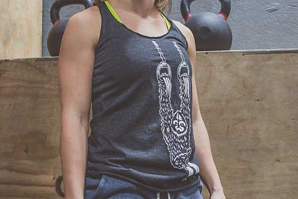Sloth Muscle Up - Girls Racerback Tank