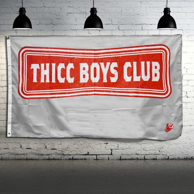 """TEAM THICC Boys Club"" - Flag / Wall Banner"
